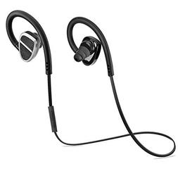 SODIAL 1set Bluetooth 4.0 Headphones Sport Earbuds with Mic
