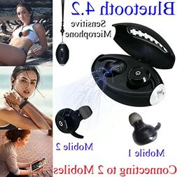 Daioolor 2018 True Wireless Earbuds Compatible Samsung Apple