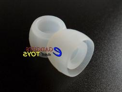 6 Clear Small Replacement Silicone Ear Tips for Plantronics