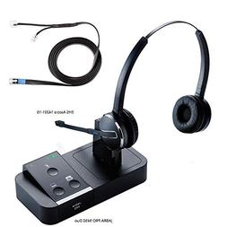 Jabra PRO 9450 Duo Flex Boom Wireless Headset with EHS Aastr
