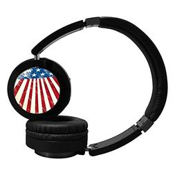Bluetooth Headphones Over Ear Flag Of United States Wireless