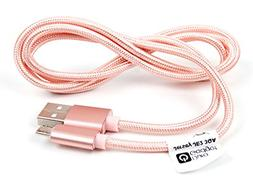 DURAGADGET Rose Gold Micro USB Data Sync Cable - Compatible