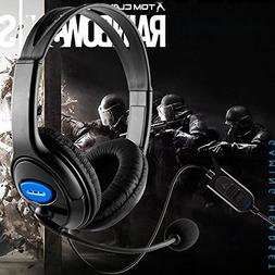 Ocamo Stereo Wired Gaming Headset Headphones with Mic for PS