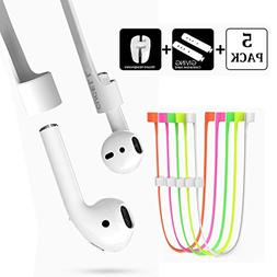 Airpods Strap,CUCELL Sport Silicone Anti-lost Strap Band, Co