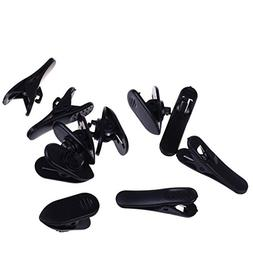 BCP Black Color 5pcs Cord Clip Holder+5pcs Rotate Mount Head