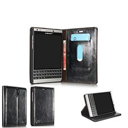 Blackberry Passport Silver Edition Case,Generic Luxury Cowhi