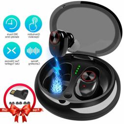 Bluetooth 5.0 Headset Wireless Headphones Earbud Earphones F