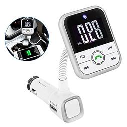 Bluetooth Car Kit, 2-Port USB Charger BT67 V4.0 LCD Display