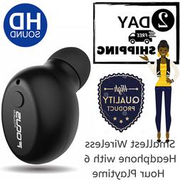 FOCUSPOWER Bluetooth Earbud Smallest Wireless Headphone with