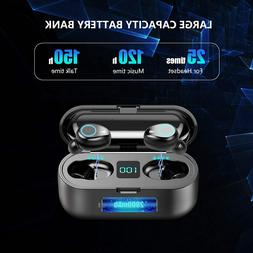 Bluetooth earbuds wireless 5.0 iPhone Android sport cancelin