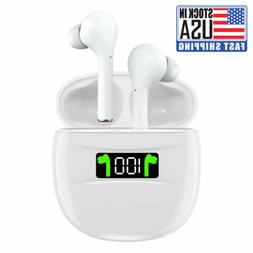 Bluetooth Earphones 5.2 Wireless Earbuds IPX7 Waterproof LED