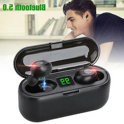 Bluetooth Headphone Wireless Earphones LED Twins Mini Earbud