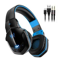 Bluetooth Headphones, V4.1 Wireless Gaming Headset with Micr