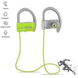 Sport Bluetooth Headphones, Waterproof Stereo Bluetooth Wire
