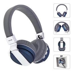 Bluetooth Headphones Over Ear, Stereo USB LED Wired Headset