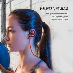 NENRENT Bluetooth Headphones, Q7 IPX7 Waterproof Sports Wire