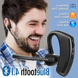 Bluetooth Headset Handsfree Wireless Earpiece Noise Reductio