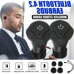 Bluetooth Wireless Headphones Earbuds Stereo Noise Cancellin