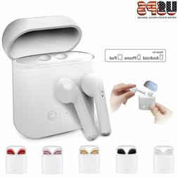 Bluetooth Wireless Headset i7s TWS Earbuds W/ Charger Box- E