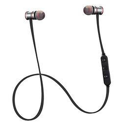 TOOGOO BTH-828 metal stereo sports Bluetooth earphone gray