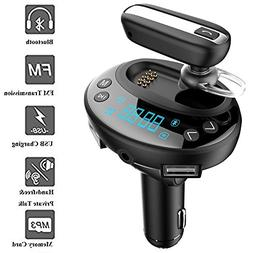 Car Bluetooth Headset, Wireless Headphones With Mic, Handsfr