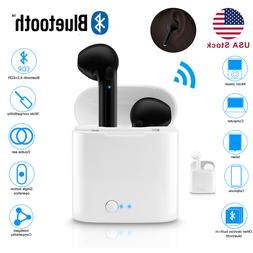 Dual Wireless Bluetooth Earphone Earbuds For IOS Android Uni