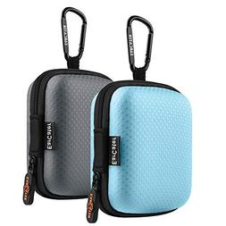 Earphone Case,EarCater 2Pack Small Earbuds Pouch Case with C