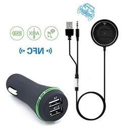 Newest JRBC01 NFC Car Kit 3.5mm Wireless Bluetooth 4.0 Audio