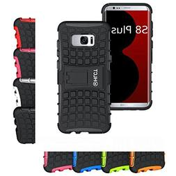 Galaxy S8 Plus Stand Case, HLCT Rugged Shock Proof Dual-Laye