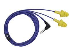 Plugfones Basic Earplug-Earbud Hybrid - Blue Cable/Yellow Pl