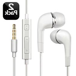 2pcs Genuine Samsung Handsfree Wired Headphones Earphones Ea