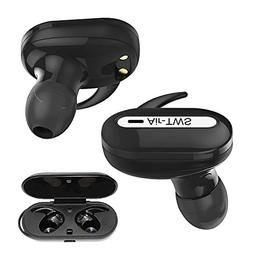 Wireless Stereo Earbuds For Alcatel REVVL Black Multifunctio