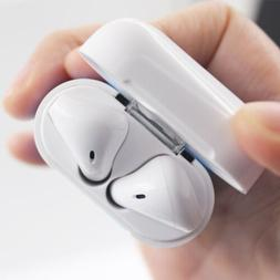headset for apple airpods charging case bluetooth