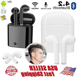 i7S TWS Twins Wireless Bluetooth Earbuds Built in Microphone