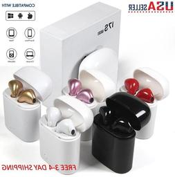 Bluetooth Wireless Headset i7s TWS Earbuds w Charger Box- US