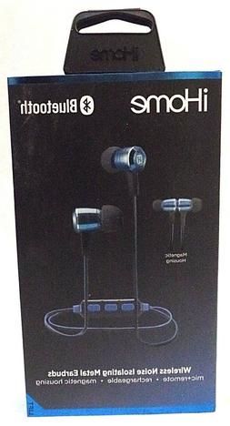 iHome iB29LC Wireless Bluetooth Metal Earbuds Blue
