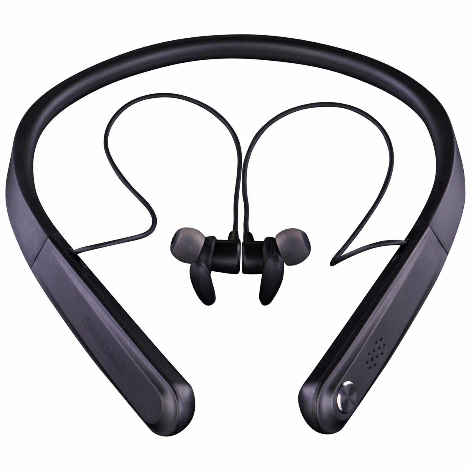 Blackweb 12 Hour Wireless Bluetooth Neckband Earbuds Headphones