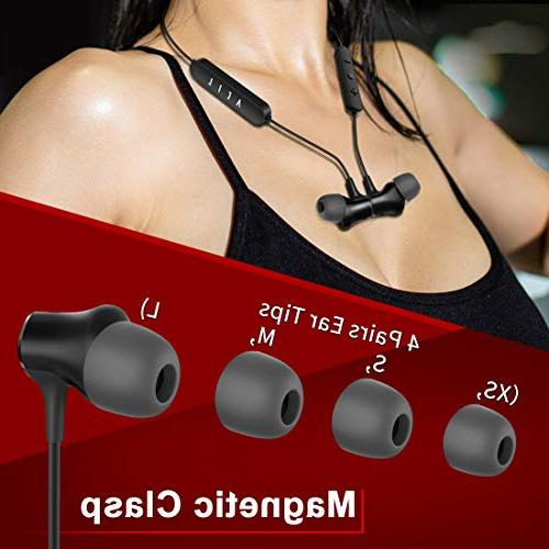 Bluetooth 4.1 Upgraded Balanced Armature Sport Wireless Bass Stereo Ultra Comfort Headphones Hrs Play Time Noise