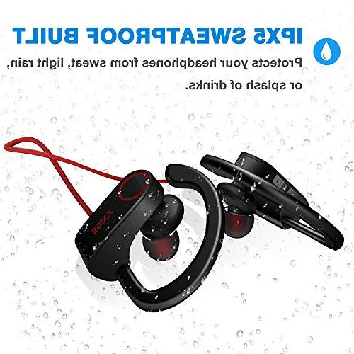 Bluetooth Earbuds with Mic Gym Sweat/Waterproof Stereo Headset