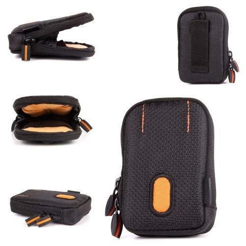 DURAGADGET Rugged Protective Storage Case in Black and Orang