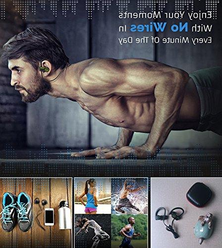 LONG Bluetooth Wireless Headphones Stereo Waterproof Secure Noise Earbuds for