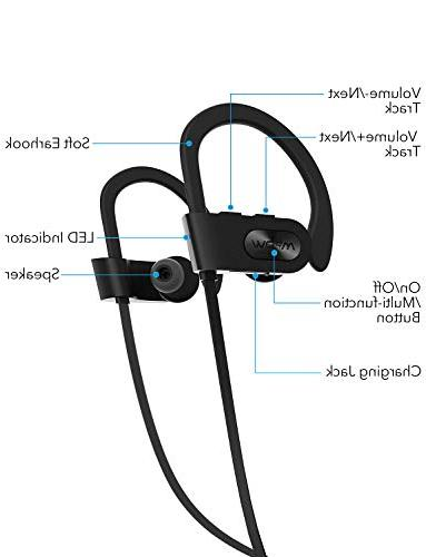 Mpow Waterproof IPX7, Stereo 7-9 Cancelling