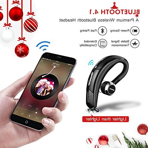 Mpow Wireless Headset with Microphone, Cell Bluetooth Earpiece, Car Bluetooth Headphones for iPhone Samsung