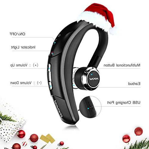 Mpow V4.1 Wireless Earbud Headset Microphone, 6-Hrs Playing Time Cell Car iPhone Samsung Android