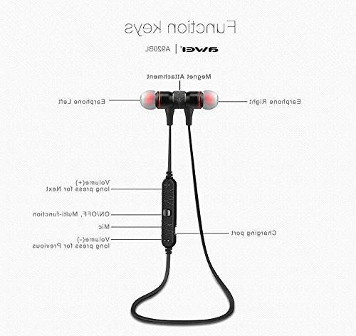 AWEI Bluetooth 4.0 Wireless Noise Earbuds