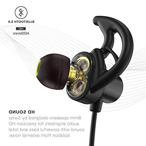 Phaiser Bluetooth with and Bluetooth 5.0 Sport Earphones with Mic Lifetime for Running,
