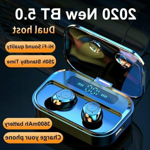 Wireless Bluetooth 5.0 Earbuds Earphones TWS Noise Cancellin