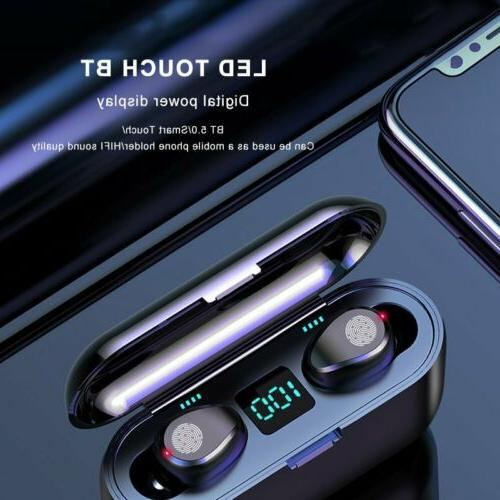 Waterproof Bluetooth 5.0 Earbuds Headphones Wireless 8D Head