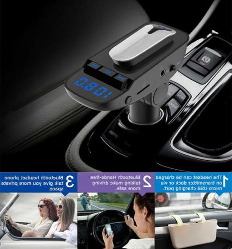 Handsfree Bluetooth Transmitter Car Player with Mini