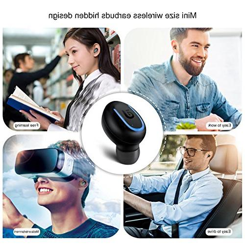 Bluetooth Earbud, Bluetooth USB Charger Hours Time for and Android Black